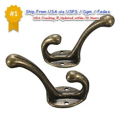 Iron Wall Cast Hook Victorian Coat Antique Hat Hooks 5 Ornate Vintage Hanger