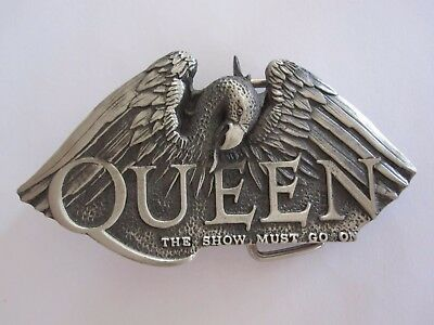 Queen  :  The Show Must Go On  -  Official 1993 Belt Buckle  -  Mint
