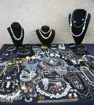 Fantastic Lot Of Vintage/now Costume Jewelry Ice Rhinestones Some Signed Nice