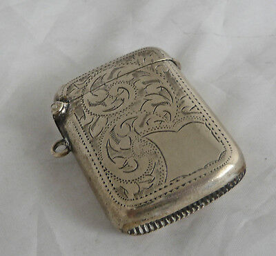 Decorative Edwardian  Vesta Case