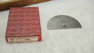 Starrett Steel Protractor 193