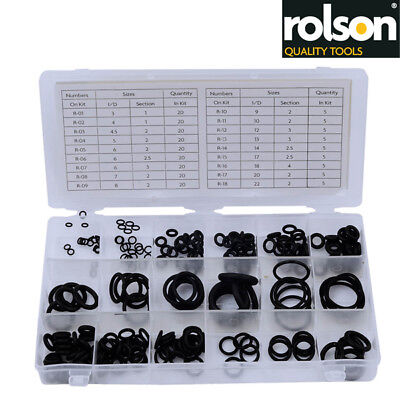 225PC RUBBER O-Ring Tap Washers Gasket Set Seal Assorted plumbing + ...