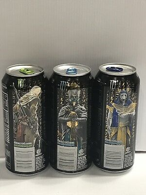 Monster Energy Drink Assassins Creed Origins Full 16oz Cans Set.One Of Each Kind