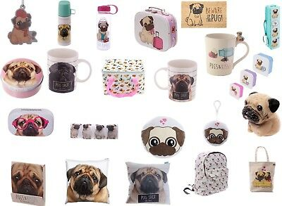 Pug Gift Ideas Pug Clock Money Box Flask Pugs & Kisses Cushion Pug Mugs Door Mat