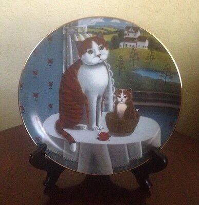 1980 EYES OF THE SEASON 1980 Lynell Studios SPRING Cat Collector Plate