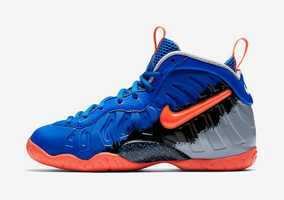 New Nike Youth Little Posite Pro GS Shoes (644792-403)  Racer Blue/Total Crimson