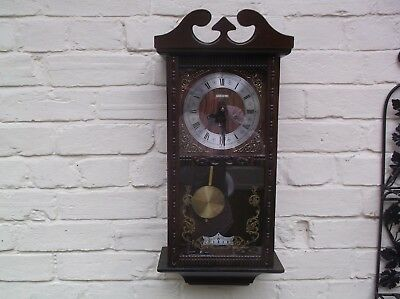 Wall Clock  Mechanical (Wooden) Gongs The Hour And The Half