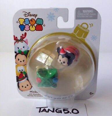 New Disney Tsum Tsum Mickey Mouse With Stackable Holiday Accessory Lights