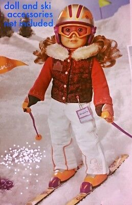 2713dfbca9 AMERICAN GIRL NICKI S SKI WEAR OUTFIT NIB retired Doll not included