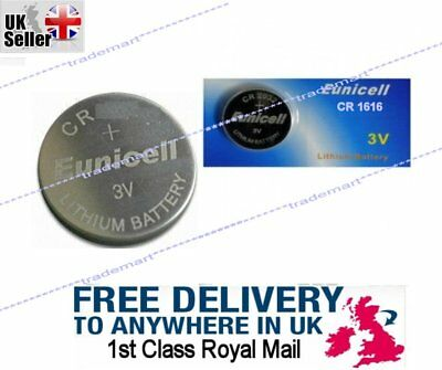 3V CR1616 BR DL ECR Lithium Button Cell battery, Eunicell Car Key Fob Remote UK