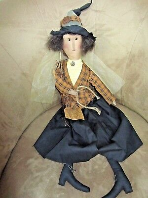 Halloween Witch -Handmade-Dressed For The Fox Hunt?-Neat Look-New W/tag!