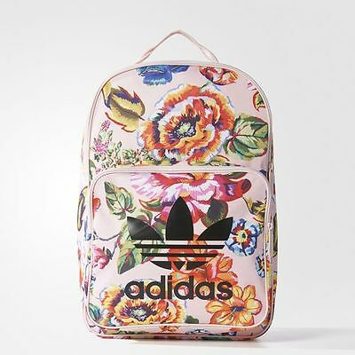 adidas Backpack Classic Blumenmuster Rucksack Flowers School backpack BR4784