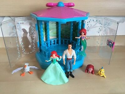 Ariel The Little Mermaid Figures Set & Pagoda - Scuttle, Flounder, Prince Toys