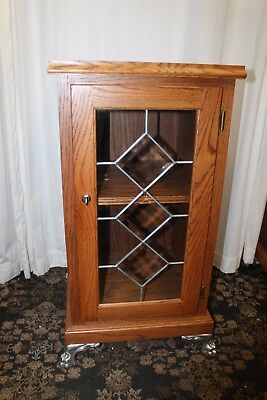 Slot Machine Wooden Stand w/ Glass Doors 3 diamond or Cash Register Stand