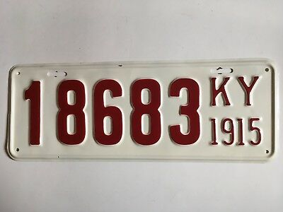 1915 Kentucky License Plate RARE Ford Model T Year YOM