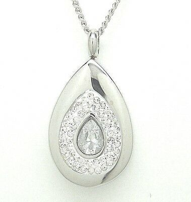 Cz Tear Cremation Jewelry Tear Cremation Urn Necklace Clear Tear Drop Memorial