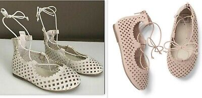 BABY GAP LACE-UP BALLET FLATS SHOES NWT 7 8 10 nnn