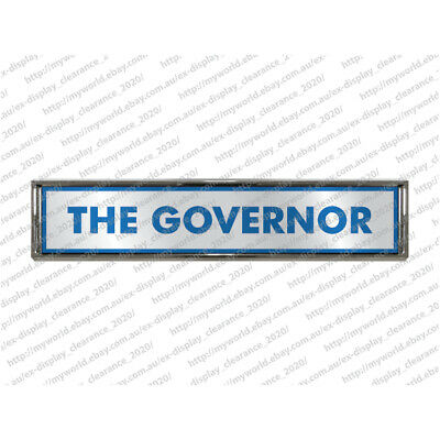 The Governor Badge Die-Cast Metal Stick On Hard Surface Office Novelty