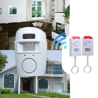 Home Alert Alarm Security System Infrared Motion Sensor Detector Remote Control