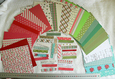 "COLOR OF MEMORIES ""NOEL"" 22 Hvy S/S Dsgns 6x6Pk, 24 3""Strips, 5 Plain C/Stock AC"