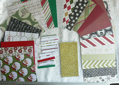 "CHRISTMAS JOY SANTA 18 HvyS/S Dsgns 6x6Pk, 11 3""Strips, 4 Plain C/Stk, 2 Gltr6x3"