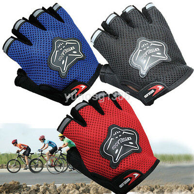 Hot shockproof Breathable Half Finger Mesh Gloves for Sports Bike Riding Outdoor