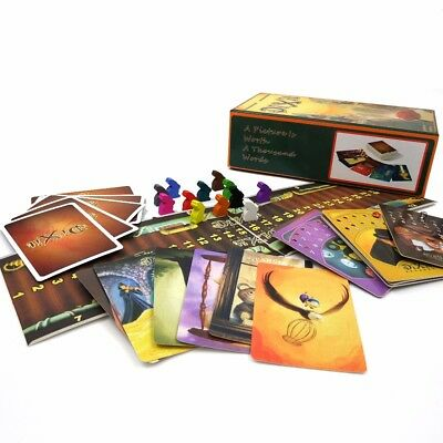 New Version Dixit 4,5,6,7 with Wooden Bunny 336 Colorful Cards Game Board Game