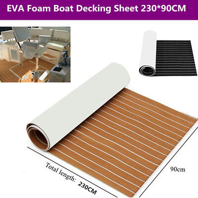 Marine Boat Outdoor Faux Flooring Timber Synthetic Teak Decking Sheet 230*90CM