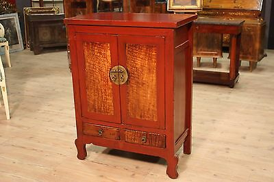 Cupboard chinese wood lacquered furniture 2 panels antique style antiques 900