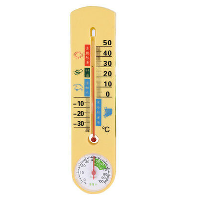 Indoor Outdoor Wall Office Home Garden Temperature Thermometer Hydrometer