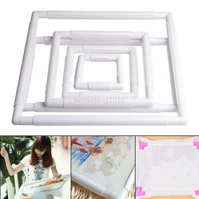 Square Rectangle Clip Plastic Embroidery Frame DIY Craft Stitch Sewing Tools