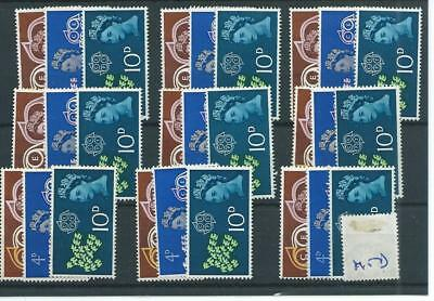 wbc. - GB - MOUNTED MINT - COMMEMS - 1961 - CEPT - NINE SETS