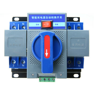 220V 150×137×118mm 63A 2P 50HZ/60HZ Dual Power Automatic Transfer Switch +Manual