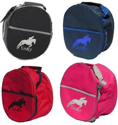PERSONALISED EMBROIDERED RHINEGOLD RIDING HAT BAG - Pony Horse tack show boot
