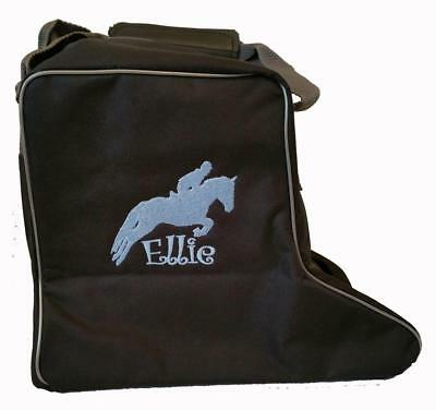 PERSONALISED EMBROIDERED RHINEGOLD SHORT RIDING BOOTS BAG - horse pony tack show