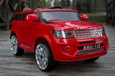 Xmas BDAY Sale Land Rover 2x Door Kids Toy Ride On Car 12V 2x Motor Leather Seat