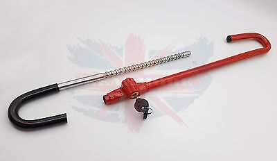 Car Anti-theft Pedal Steering Wheel Lock  Car Truck High Security Adjustable UK