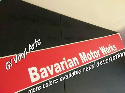 BMW Bavarian Motor Works Banners Windshield Sun Strip Sun Visor Decals Stickers