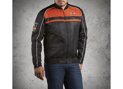 Harley Davidson Mens Moto Ride Nylon Jacket
