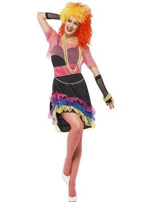 Ladies 1980's Fun Girl Fancy Dress Costume / Outfit