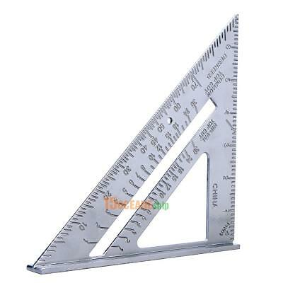 """7"""" Aluminum Speed Square Triangle Angle Protractor Miter Framing Measuring Tool"""