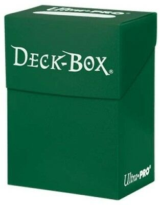 Deck Box Pro Ultra Solid Green Card Storage Protector Case Trading Cards