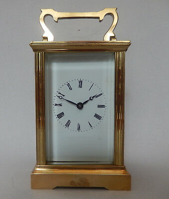 Excellent English 7 Jewel Brass Case Carriage Clock fully Working  2720