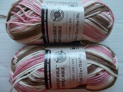 Loops&Threads Impeccable yarn, Neapolitan,  lot of 2 (192 yards each)