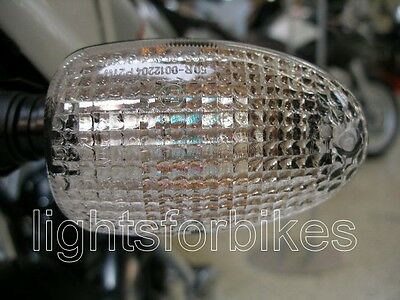 White Clear Indicator Glasses BMW R 850 GS 1100 1150 Signal Lenses