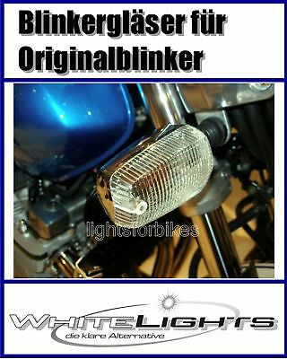 White Clear Indicator Glasses Yamaha XJ 600 N S Diversion Clear Signal Lenses