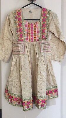 Pakistani Children's Peplum Sindhi Embroidered Kurta For All Occasions