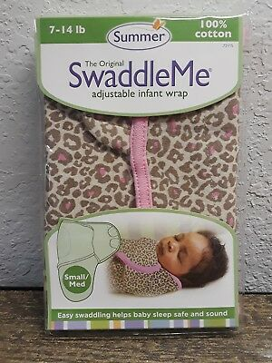 The Original Swaddle Me Adjustable Infant Wrap New Cheetah Print