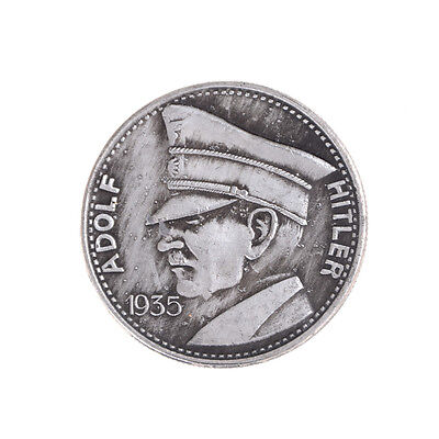 1PC Silver Plated Coin Germany Hitler Commemorative Coin Collection Gift TSUS