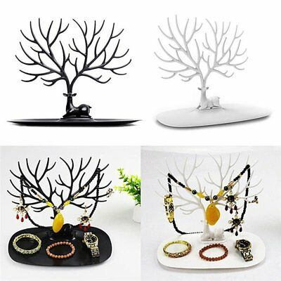 Retro Deer Tree Jewelry Stand Holder Earrings Ring Show Rack Necklace Display